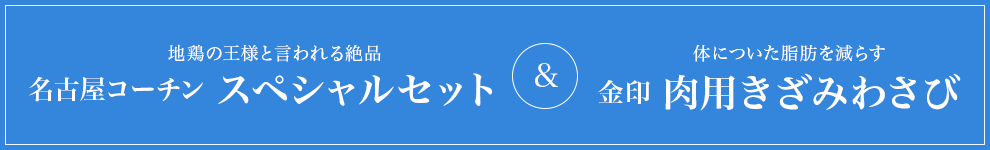 名古屋コーチン スペシャルセット&金印 肉用きざみわさび